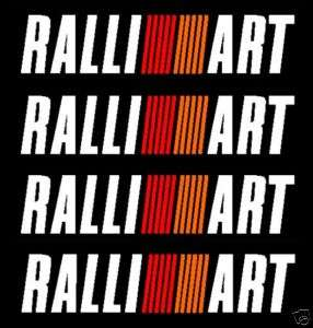 Mitsubishi RALLIART box decal graphics stickers x5