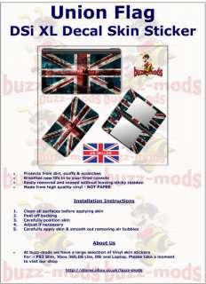 Union Flag Nintendo DSi XL Decal Skin Sticker