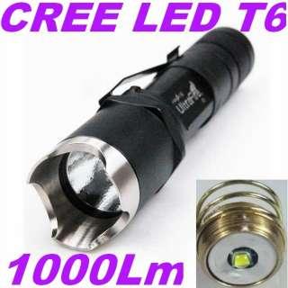 C1 CREE LED T6 1 Mode 3.7 18V 1000 Lumens Tactical Flashlight