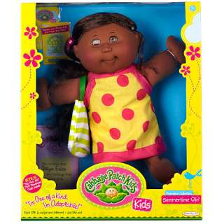 Cabbage Patch Kids Girl Doll   African American   Summer Time   Jakks