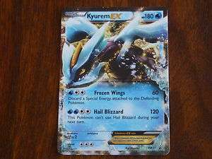 CARTE POKEMON ULTRA RARE KYUREM EX HOLO VO 180 PV ATTAQUE 120