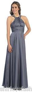Womens Long Formal Empire Prom Dress New regular & plus sizes many