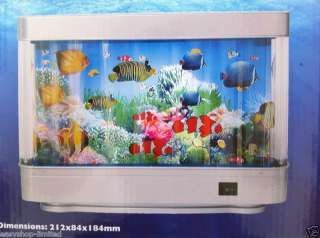 LIVING AQUARIUM MOVING LIGHT UP MOTION FISH TANK LAMP