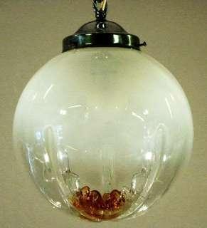 SPACE AGE 70´s MILK GLASS CHROME LAMP 70er LAMPE