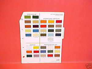 1973 CHEVROLET GMC FORD DODGE JEEP TRUCK PAINT CHIPS 73