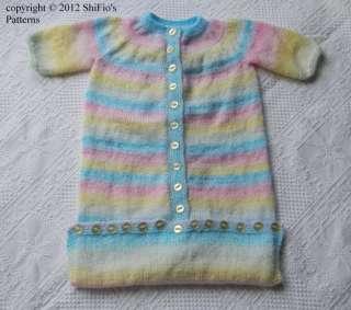 BABY BAG PATTERN SLEEPING   FREE Knitting PATTERNS