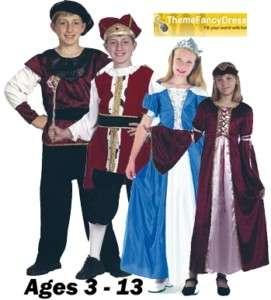 Medieval Tudor King Princess Prince costumes Boy Girl