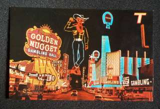 1950s Fremont St. at Night Neon Signs Old Cars Las Vegas NV Clark Co
