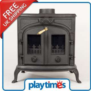 Iron Log Burner Stove   Multifuel Wood Coal Burning ST1017A