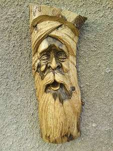 Quality Hard Wood Green Man Tree Face Wooden Log Carving Garden 7
