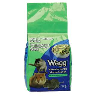 Wagg Hamster Gerbil Mouse Munch 1kg  Pet Food   Small Animal from