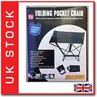 PORTABLE FOLDING POCKET CHAIR SEAT  OUTDOOR FISHING CAMPING GARDEN