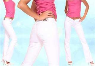 CRAZY AGE WHITE JEANS UK 12 EU40 COOL SEXY LOOK