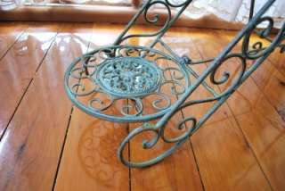 Wrought Iron French Antique Three Tier Plant Stand