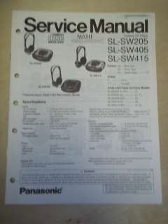 Service Manual~SL SW205/SW405/SW415 Shock Wave CD Player~Original
