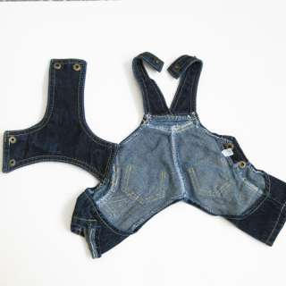 Blue Demin Overall Pants pet dog clothes Chihuahua