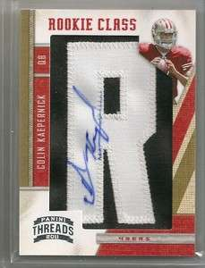 2011 Panini Threads COLIN KAEPERNICK Auto Patch Rookie /500