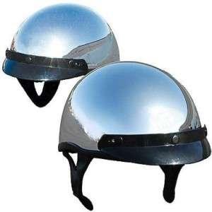 DOT Chrome Biker moto custom Harley trike helmet motorcycle choppers