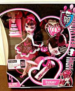 NIB Monster High Doll Draculaura & Key Sweet 1600 series Daughter of
