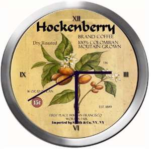 HOCKENBERRY 14 Inch Coffee Metal Clock Quartz Movement