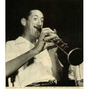 1944 Print Jazz Musician Charles Ellsworth Russell Pee Wee