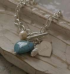 products rose quartz silver heart bracelet 53 86 10 70