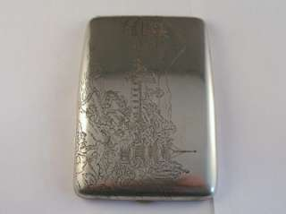 ANTIQUE   JAPANESE   STERLING SILVER   CIGARETTE CASE   125 Grams