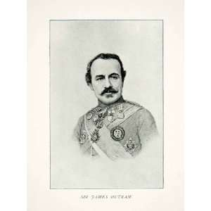 1894 Print Lieutenant General Sir James Outram Baronet England India