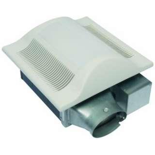 Super Low Profile Ventilation Fan with Light, White