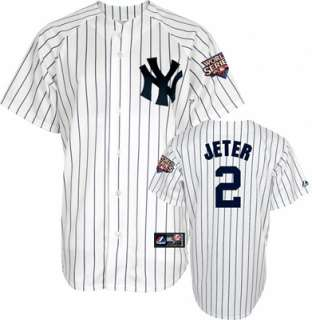 Derek Jeter New York Yankees Home Replica Jersey with 2009 World