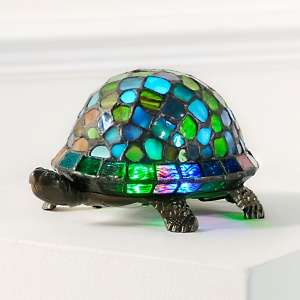 Tiffany Style Color Changing Turtle Lamp