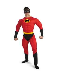 fun Incredibles Mr. Incredible deluxe mens adult superhero costume