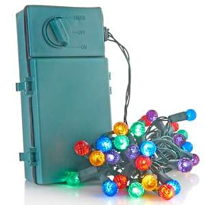Winter Lane Battery Operated 35 LED Light Strand with Timer