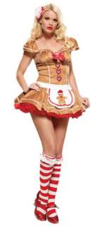 Sexy Gingerbread Girl Christmas Costume   Sexy Costumes