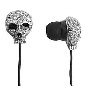 le style du crâne de diamants écouteurs intra auriculaires (coloris