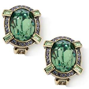 Heidi Daus Crystal Erinite Radiance Clip Earrings