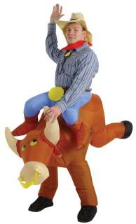 Inflatable Cowboy On Bull or Horse   Adult Costumes
