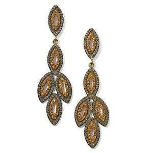 Justine Simmons Jewelry Topaz Color Crystal Drop Earrings