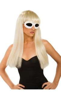 Lady Gaga Straight Costume Wig with Bangs for Halloween   Pure