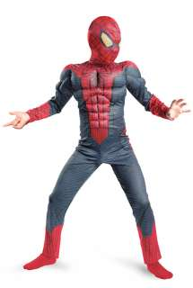 The Amazing Spiderman Spider Man Movie Classic Muscle Child Costume