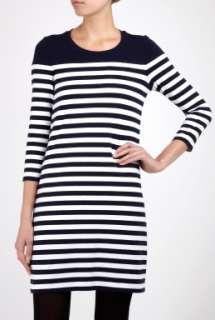 White Sailor Stripe T Shirt Dress by DKNY   White   Buy Dresses Online