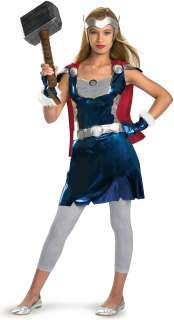 Thor Movie   Thor Girl Tween Costume   Includes dress, detachable cape
