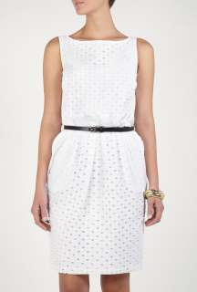 Moschino Cheap & Chic  Embrodiery Anglais Belted Sun Dress by