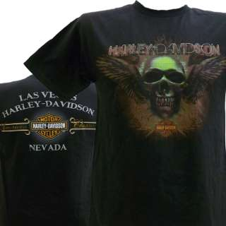 Davidson Las Vegas Dealer Tee T Shirt BLACK SMALL #BRAVA1