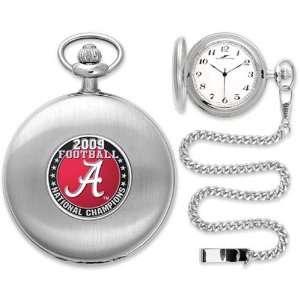 Alabama Crimson Tide 2009 BCS National Champions Silver Pocket Watch