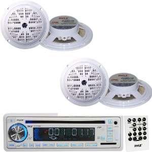 Pyle Marine Radio Receiver and Speaker Package   PLCD35MR AM/FM