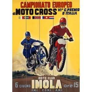 Moto Cross Vintage Wood Sign