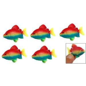 Como 5 Pieces Aquarium Tank Plastic Floating Fish Ornament