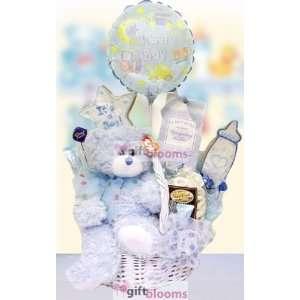 Polka Dots and Plush Baby Basket BOY OR GIRL