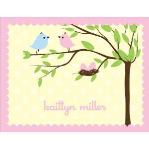 Bird Tree Egg Girl Twins Note Cards